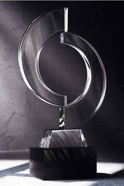 Trophée en verre : Double C
