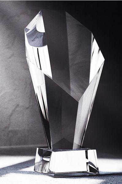 Trophée en verre : Gros diamant