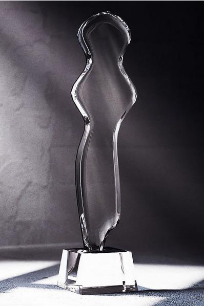 Trophée en verre : Le buste