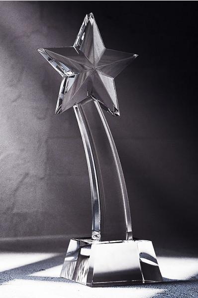 Trophée en verre : Etoile filante 2