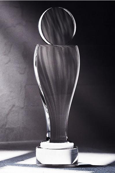 Trophée en verre : La figure