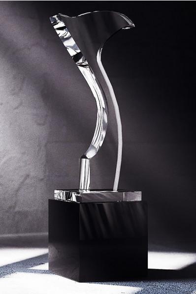 Trophée en verre : Drapeau