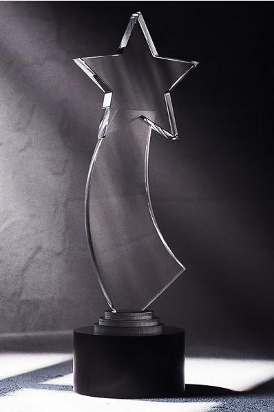 Trophée en verre : Etoile filante 3