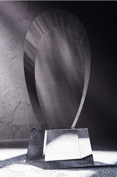 Trophée en verre : L'ovale