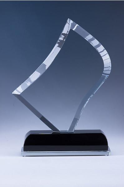 Trophée en verre : Plaque design