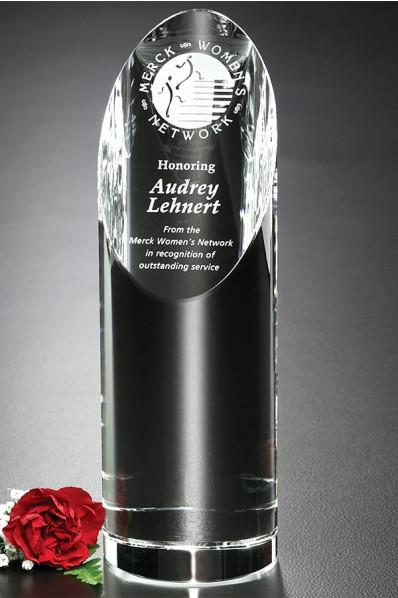 Trophée en verre : Cylindre