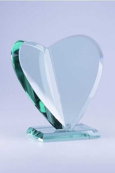 Trophée en verre : Coeur
