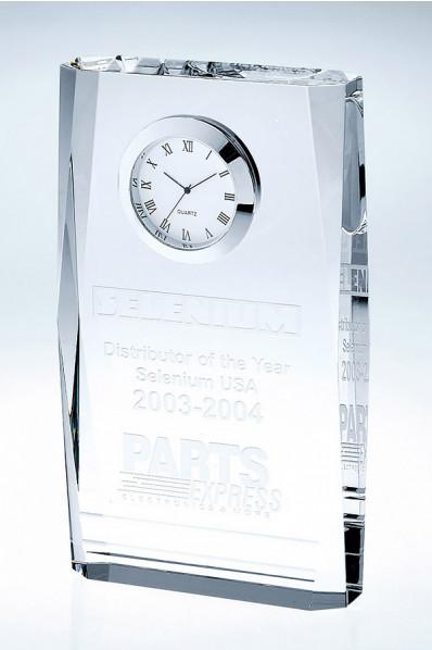 Trophée en verre : Horloge 5
