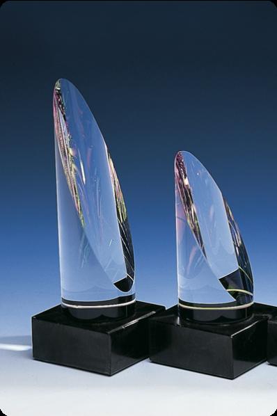 Trophée en verre : Rouleau en verre