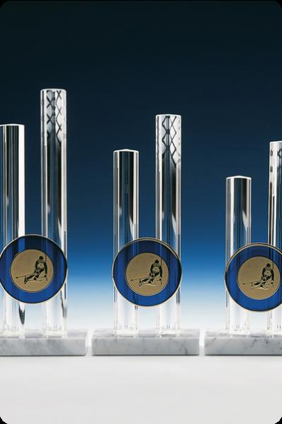 Trophée en verre : Cylindres en verre