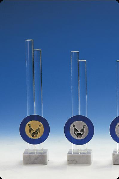 Trophée en verre : tiges de verre