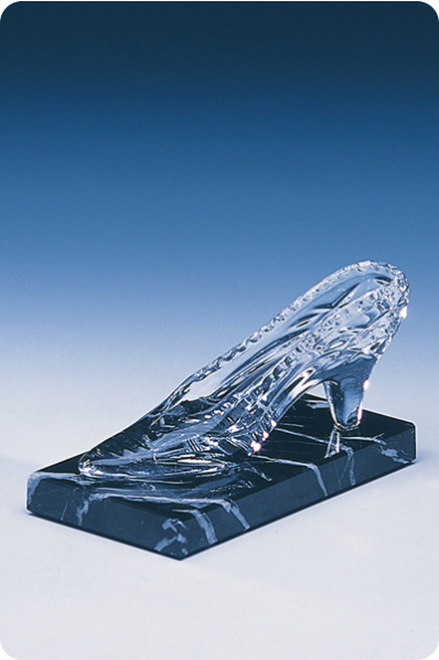 Trophée en verre : Chaussure en verre