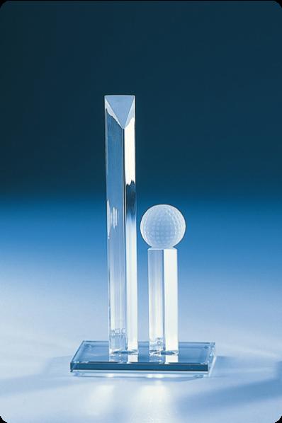 Trophée en verre : Forme inhabituel