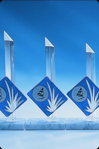 Trophée en verre : Pointe en verre