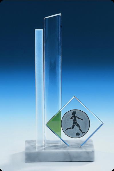 Trophée en verre : Bloc en verre transparent