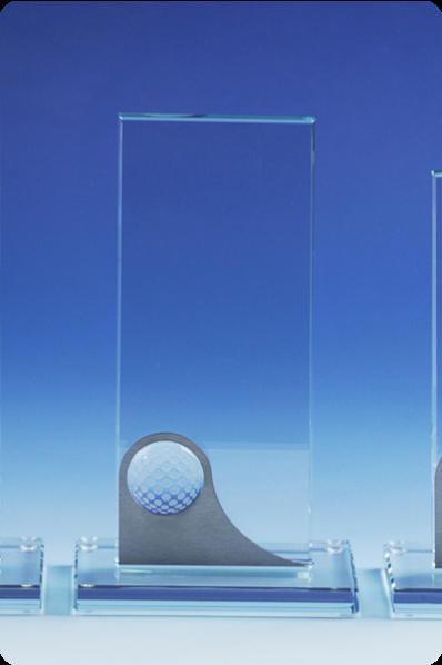 Trophée en verre : Plaque en verre golf
