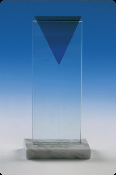Trophée en verre : Plaque rectangulaire