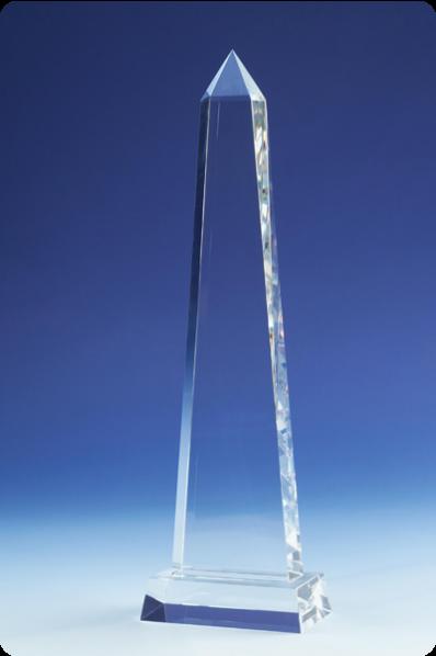 Trophée en verre : Prisme droit