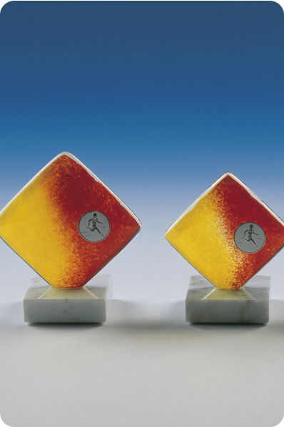 Trophée en verre : Plaque en verre carré