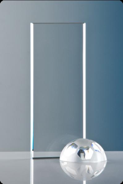 Trophée en verre : Plaque de sport rectangulaire