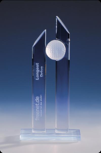 Trophée en verre : Trophée colonne