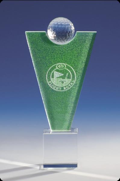 Trophée en verre : Vainqueur