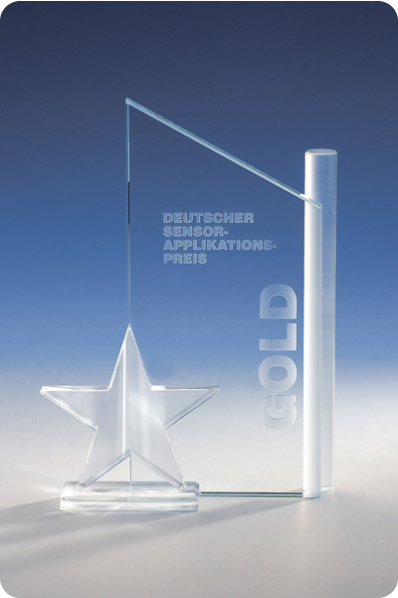 Trophée en verre : Plaque étoile