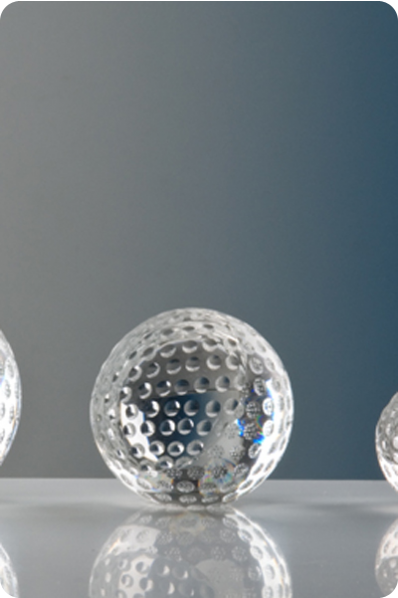 Trophée en verre : Balle de golf