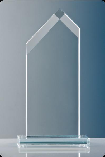 Trophée en verre : Prisme en verre
