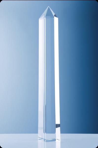 Trophée en verre : Crayon en verre