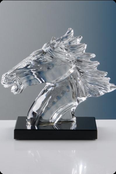 Trophée en verre : Tête De Cheval