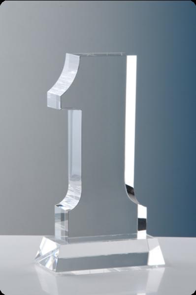 Trophée en verre :  Numéro 1