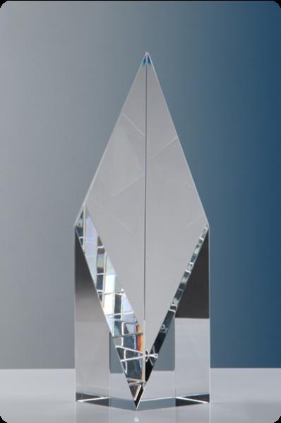 Trophée en verre : Prisme symétrique