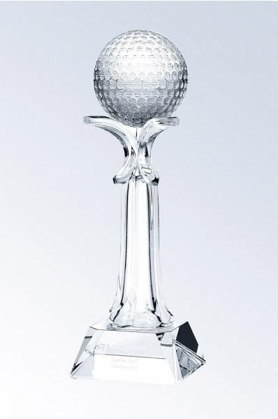 Trophée en verre : Golfeur