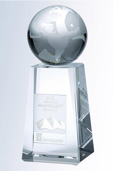 Trophée en verre : Grand piédestal