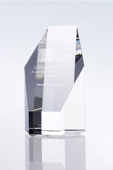 Trophée en verre : Bloc
