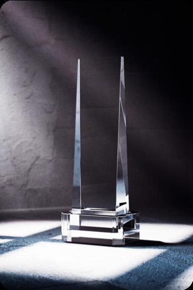 Trophée en verre : Brique