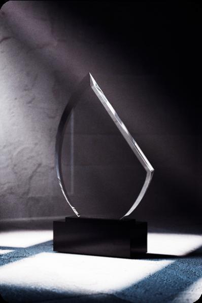 Trophée en verre : Demi-sphère
