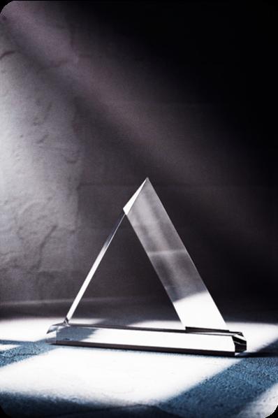 Trophée en verre : Triangle