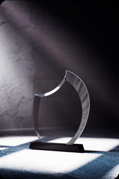 Trophée en verre : Lune