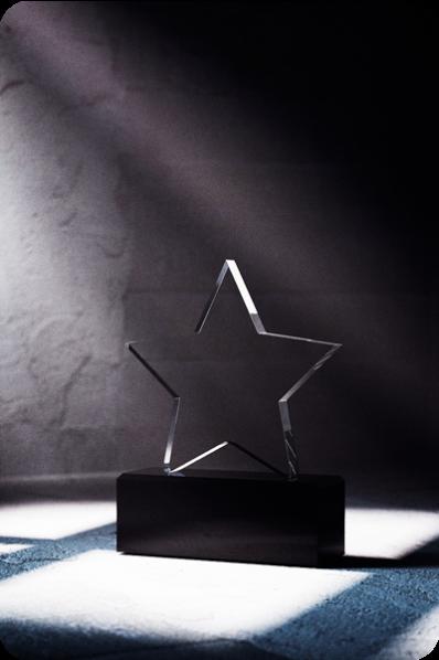 Trophée en verre : Etoile 2