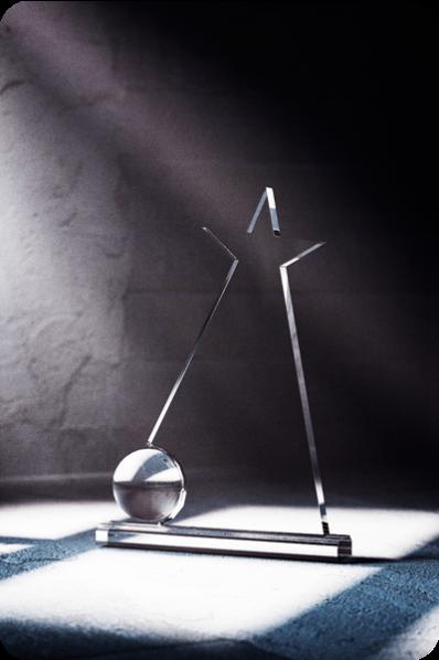 Trophée en verre : Etoile 4