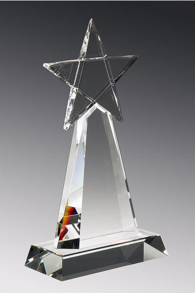 Trophée en verre : Etoile 5