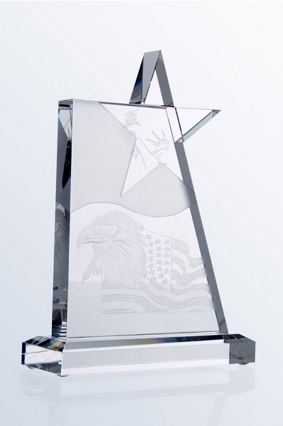 Trophée en verre : Etoile 6