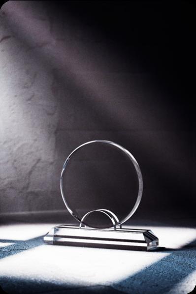 Trophée en verre : Rond