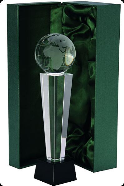 Trophée en verre : Globe