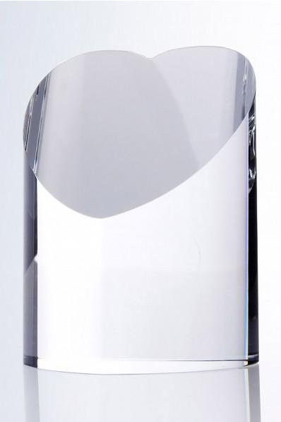 Trophée en verre : Cœur en 3D