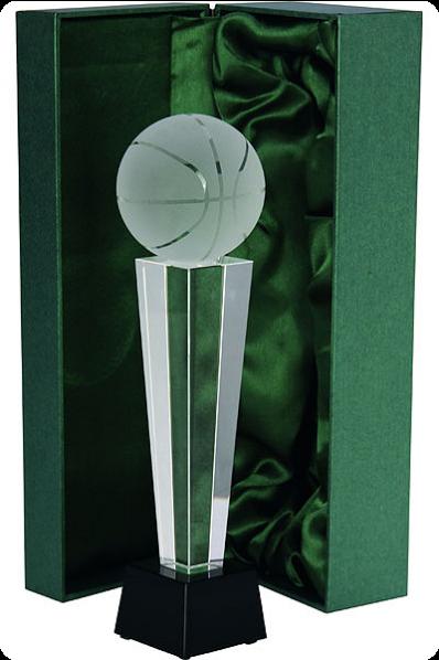 Trophée en verre : Basket ball