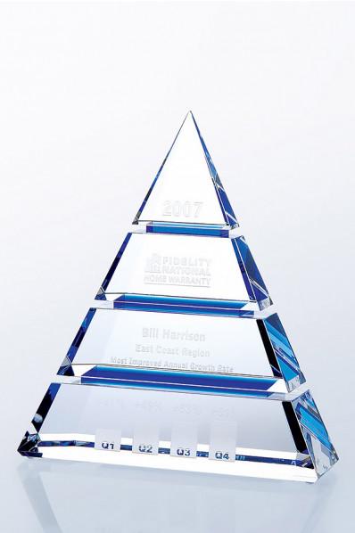 Trophée en verre : Pyramide