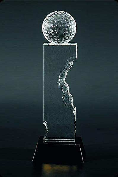 Trophée en verre : Golf design